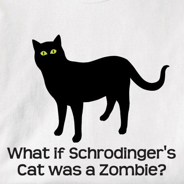 What If Schrodinger's Cat Was A Zombie? Shirt at Wireless Catalog ...