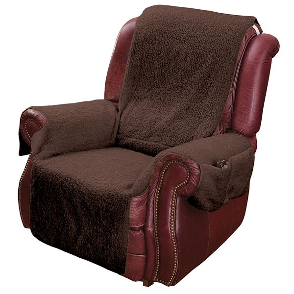 Recliner Seat Covers >> Recliner Cover - Brown Set of 2 at Wireless Catalog | TA1762