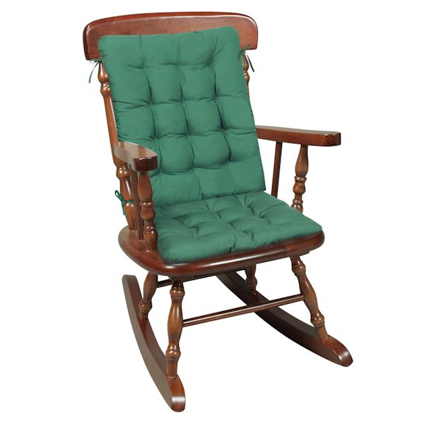 ROCKING CHAIR CUSHIONS   HUNTER GREEN