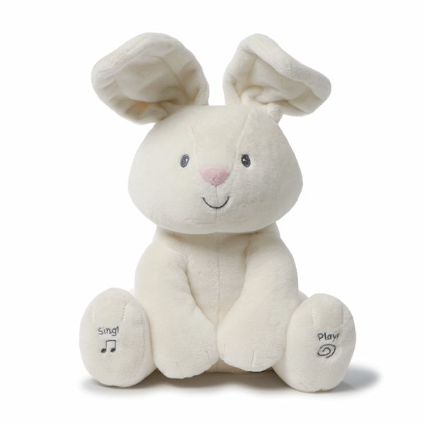 Gund Baby Flora The Bunny Peek A Boo Animated Talking And