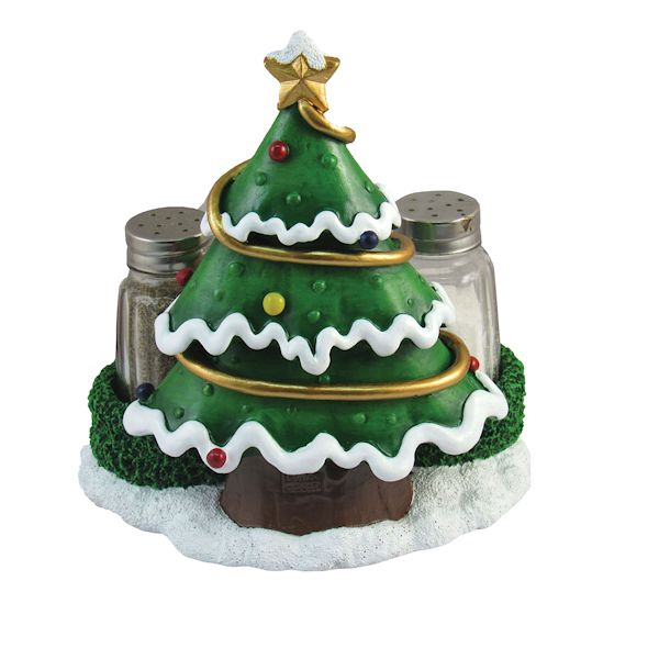 Dwk Christmas Tree Salt And Pepper Shaker Set Holiday Theme E Containers Holders Kitchen Dining Decor