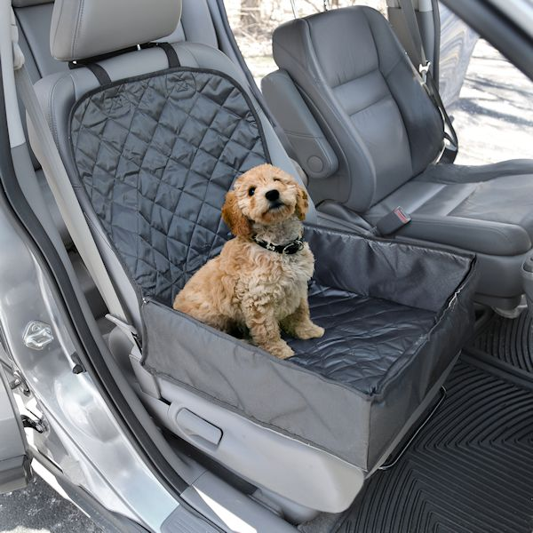 Pawriffic Convertible Dog Car Seat And Seat Cover Pet Mat Protects Vehicle From Dirt Mud Water And Scratches Black And Gray
