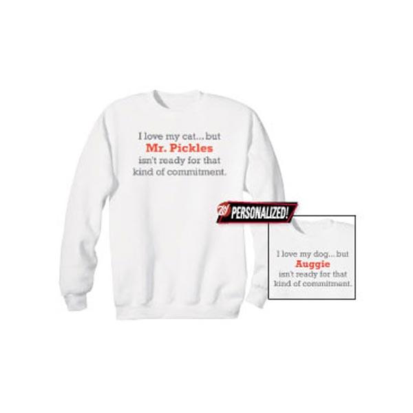 cdf1f7b0e Personalized Cat Commitment Shirt at Wireless Catalog   VH5011