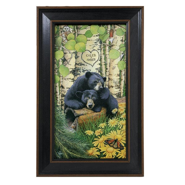 Personalized Love Bears Framed Print at Wireless Catalog   VJ3072