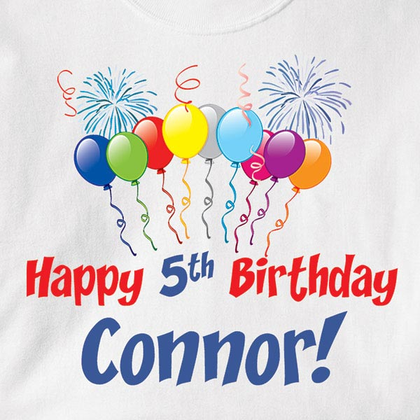 Personalized Birthday Shirts View Large Image