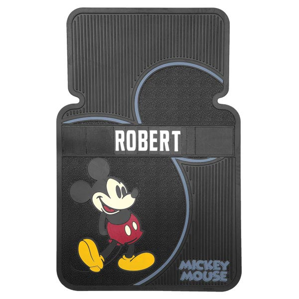 Personalized Mickey Mouse Car Mats Set Of 2 Larger Image
