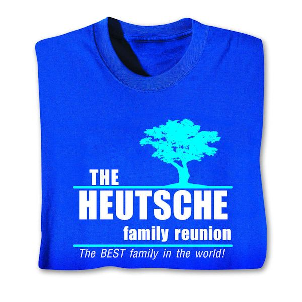Personalized Family Reunion Shirts Apparel At Wireless