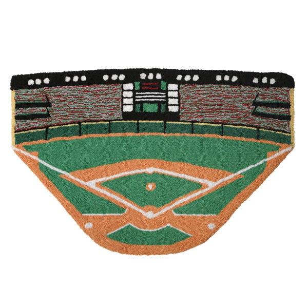 Baseball Rug: -- Larger Image
