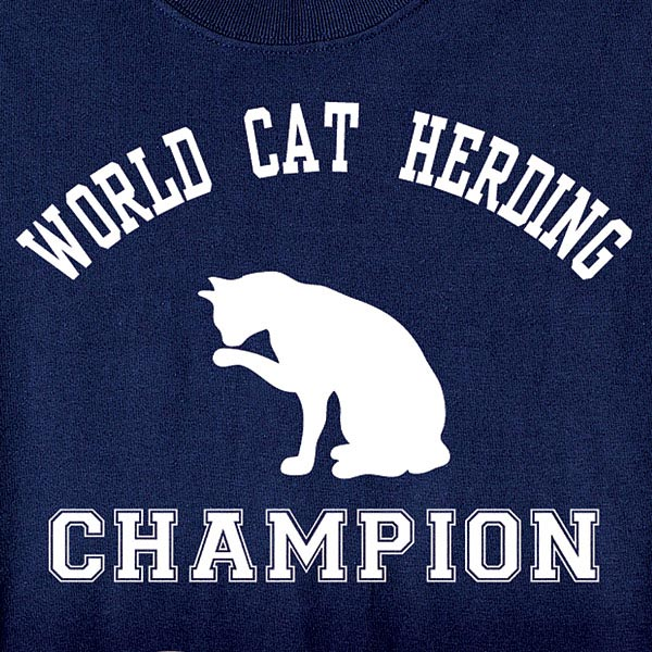 World Cat Herding Champion T Shirt In Cotton At Wireless