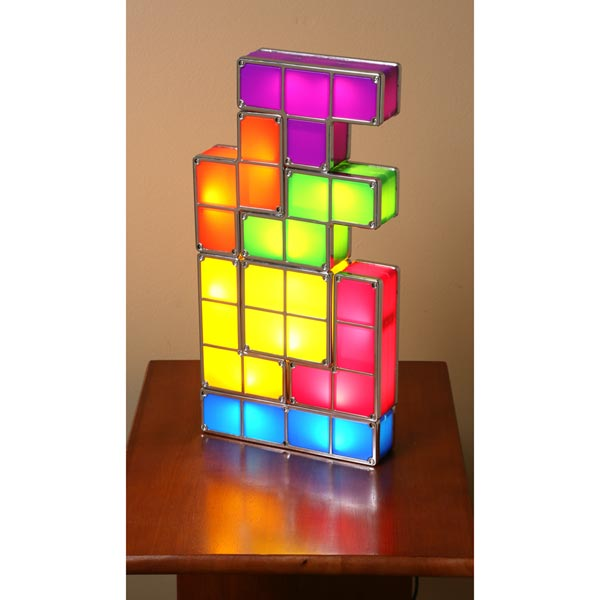 Tetris Stackable LED Desk Lamp Made of Plastic and Metal at