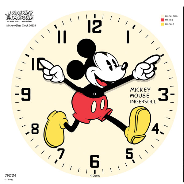 Mickey Mouse Wall Clock Mickey Mouse Glass Wall Clock