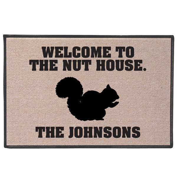 Personalized nut house welcome mat at wireless catalog for Pecan house