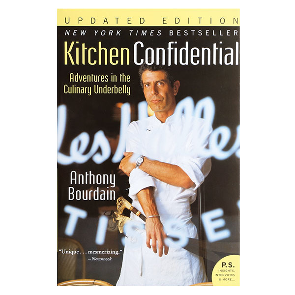 Kitchen confidential anthony bourdain signed at wireless for Kitchen confidential