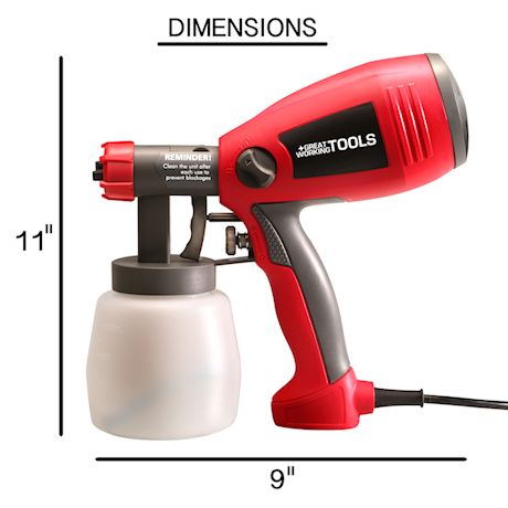 Great Working Tools Paint Sprayer, 400 Watt Power Home Spray Gun for Paint Stain Crafts Home Improvement Hand-Held Light Weight