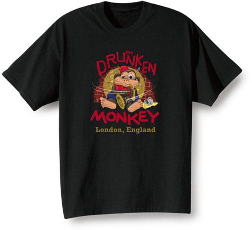 The Drunken Monkey - London, England T-Shirts