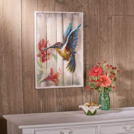 3D Hummingbird Metal Art