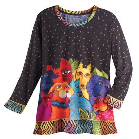 Laurel Burch Dog Top