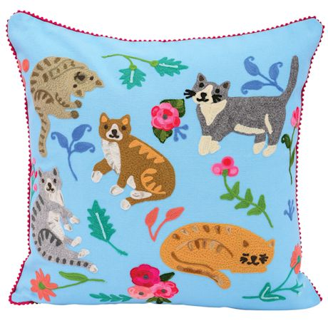 Playful Cat And Dog Throw Pillows