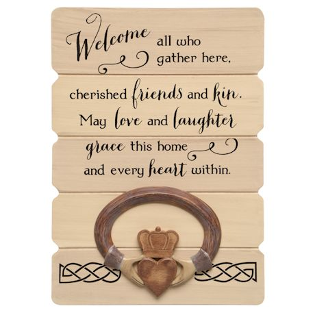 Claddagh Irish Blessing Wall Sign