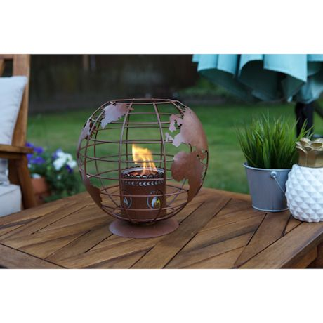 Mini Globe Tabletop Fireplace
