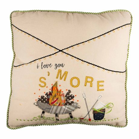 I Love You S'more Pillow