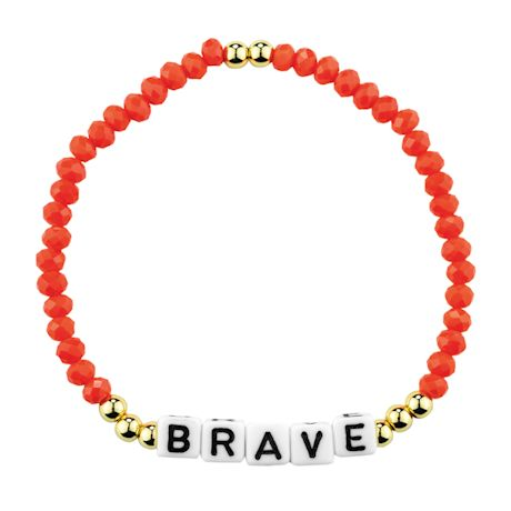 Positive Message Crystal Bracelet