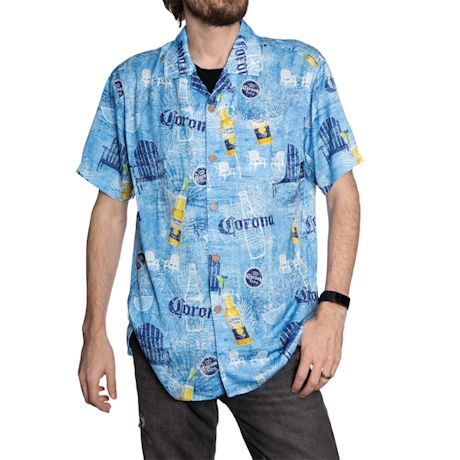 Corona Beach Chair Camp Shirt