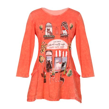 Sweet Cat's Cafe Tunic