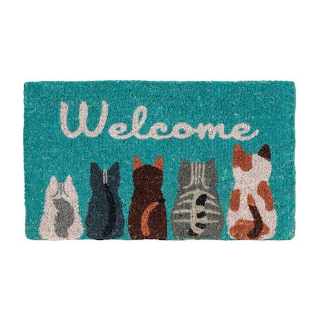 Cat And Dog Tails Welcome Mats