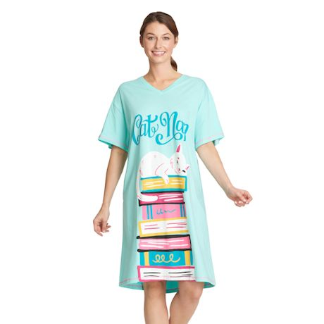 Humorous Sleepshirts - Cat Nap