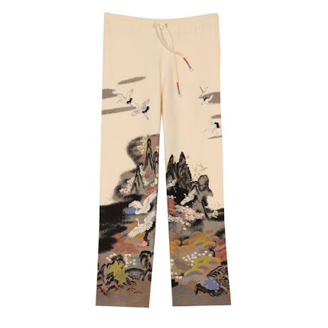 Asian Crane Art Lounge Pant