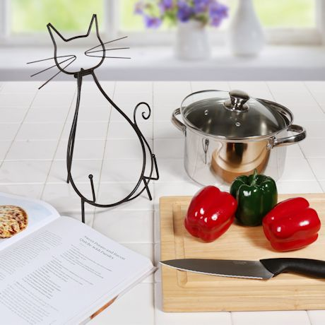 Cat Metal Cookbook/Tablet Easel