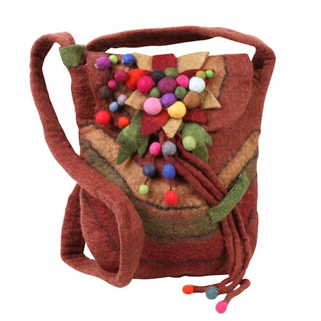 Felted Wool Tassel Bag