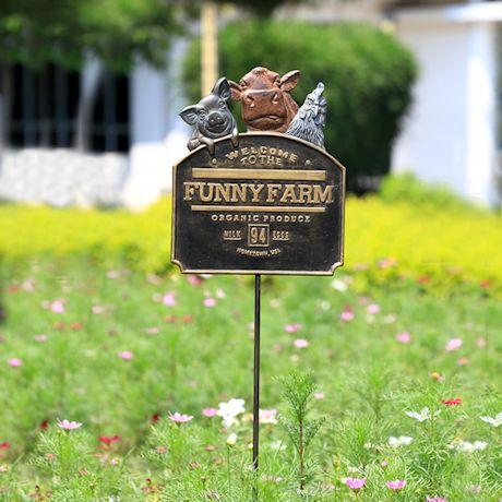 Funny Farm Garden Sign