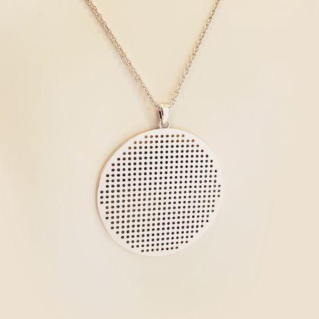 Stitch-Grid Necklace