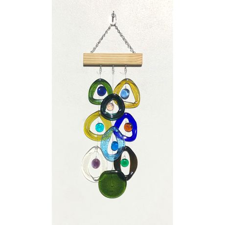 Recycled Wine Bottles Wind Chime