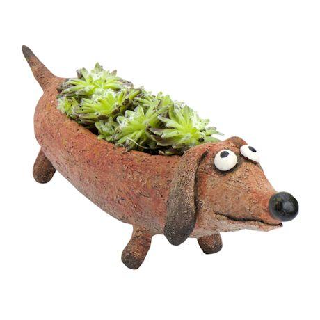 Dobbie The Doxie Dachshund Planters