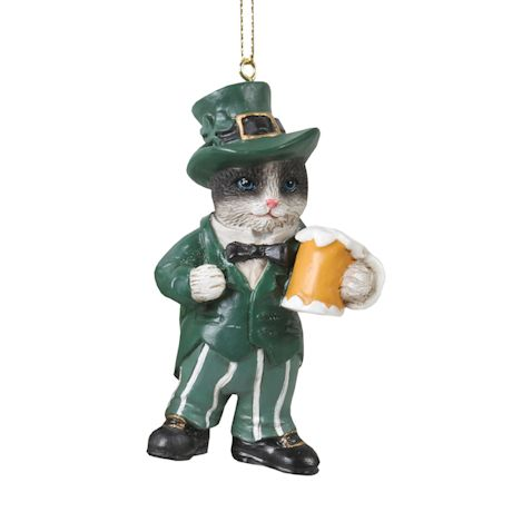 International Cat Ornaments - Irish