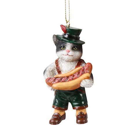 International Cat Ornaments - German