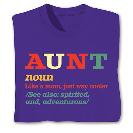 Family Noun Shirts - Aunt