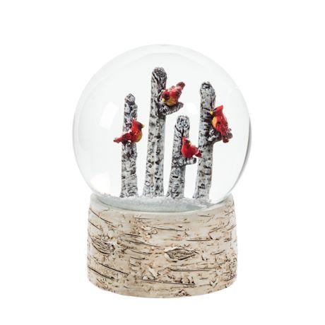 Cardinals On Trees Snow Globe