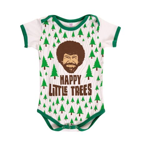 Bob Ross Happy Little Trees Snapsuit