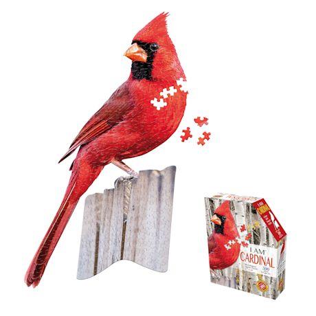 I Am Cardinal Shaped Puzzle