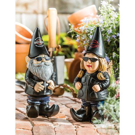 Harley-Davidson Man Gnome Garden Figures