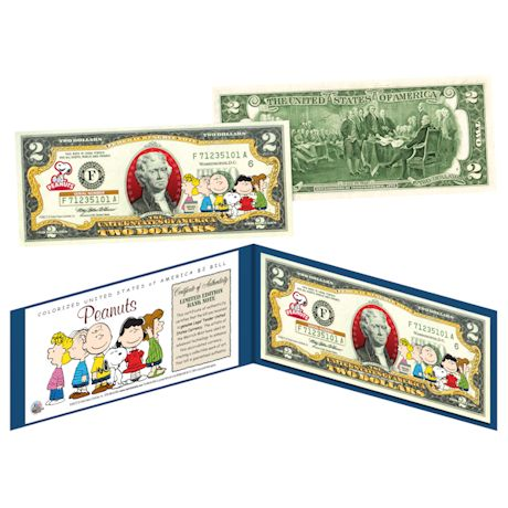 Peanuts Colorized $2 Bill