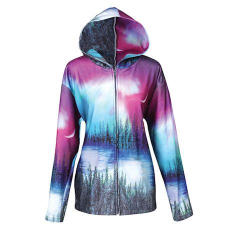 Northern Lights Zip Front Hooded Sweatshirt