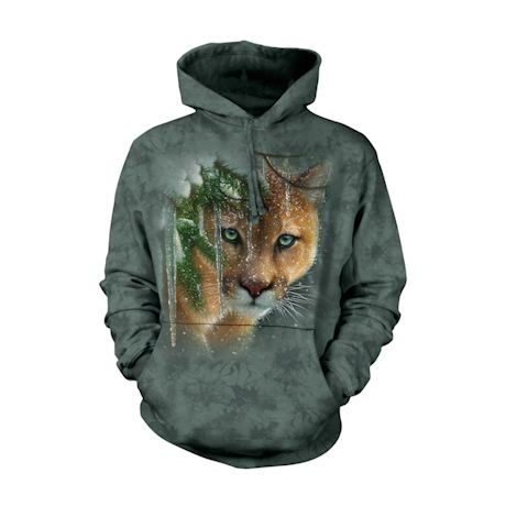 Frozen Mountain Lion Shirts