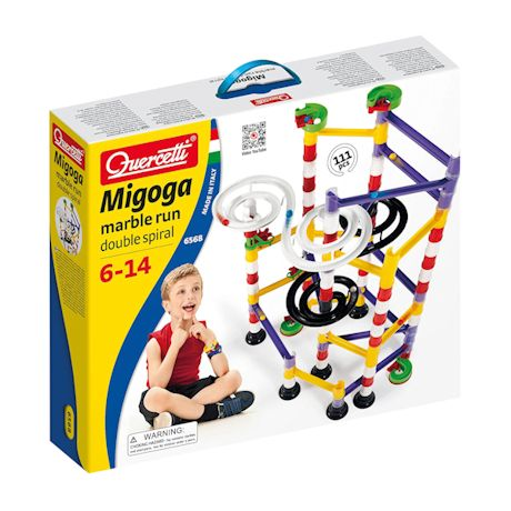 Double-Spiral Marble Run