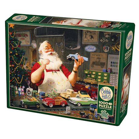 Santa Painting Cars 1000 Piece Puzzle