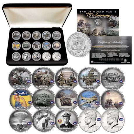 WWII 75Th-Anniversary JFK Half Dollar Set